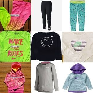 9pc Girls Nike 6X Winter Leggings Hoodies NEW